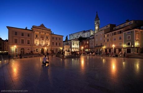 Словения. Вечерний Пиран