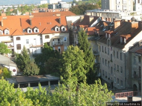 Прогулка по вечерней Любляне