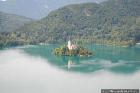 Бледское озеро с высоты Бледского замка