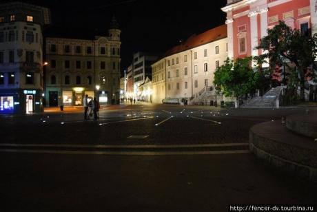 Исследуя ночную Любляну