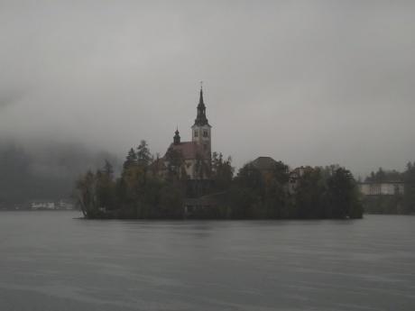 Озеро Блед, октябрь 2015