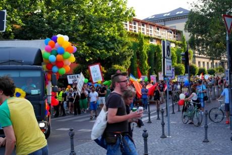 Любляна. Словения - Радужный парад