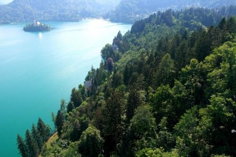 Бледское озеро с высоты