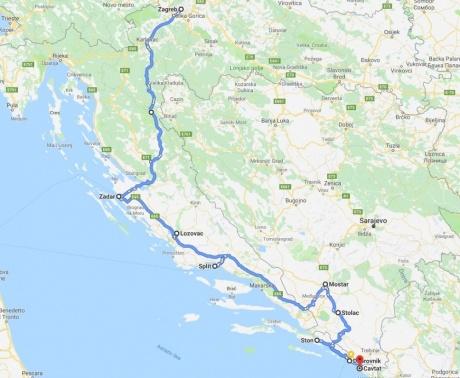 От Загреба до Дубровника и два дня в Герцеговине.